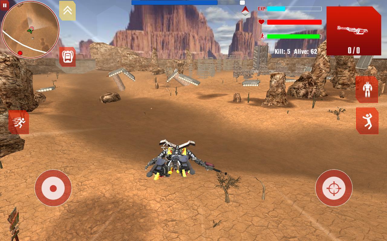 game mirip pubg offline-royal robot battleground