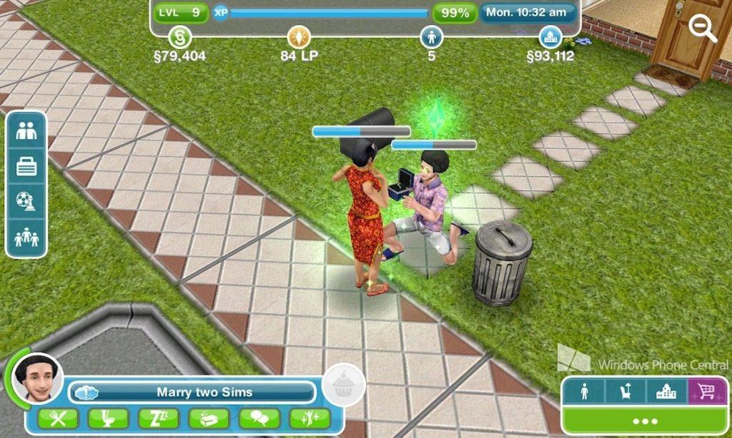 cara menikah di the sims freeplay