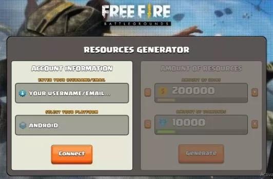 generator diamond free fire resource generator