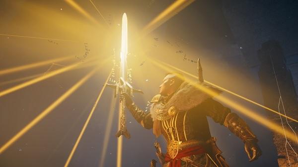 pedang excalibur assassins creed valhalla