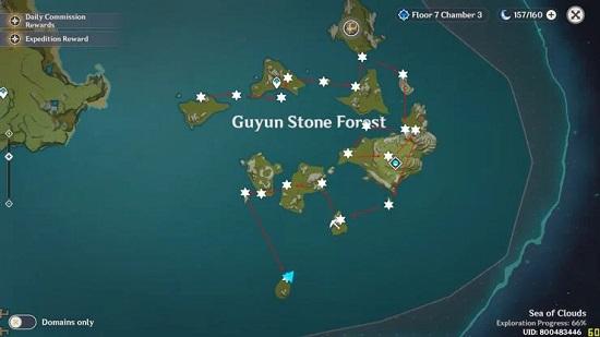lokasi meteorite shard di genshin impact lengkap