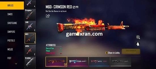 cara mendapatkan skin m60 crimson red free fire
