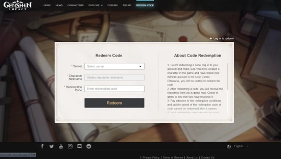 promo code genshin impact terbaru