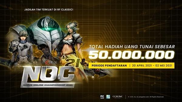 turnamen rf classic indonesia noc 2021 telah dimulai