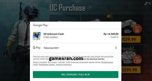 cara top up uc pubg mobile via pulsa telkomsel